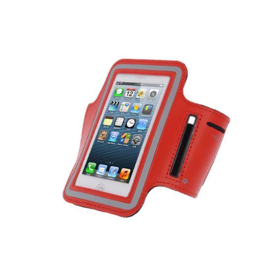 Mobigear Neopren Sportarmband für iPhone SE (2016) / 5S / 5C / 5 - Rot
