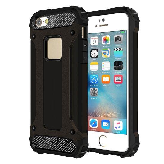 Mobigear Outdoor Hardcase Backcover für iPhone SE (2016) / 5S / 5 - Schwarz