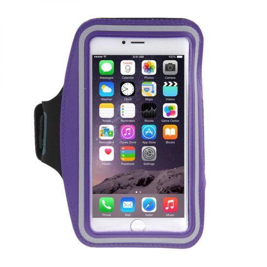 Mobigear Neopren Sportarmband für iPhone 8 Plus / 7 Plus / 6(s) Plus - Lila