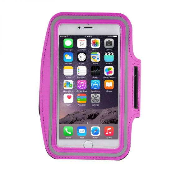 Mobigear Neopren Sportarmband für iPhone 8 Plus / 7 Plus / 6(s) Plus - Magenta