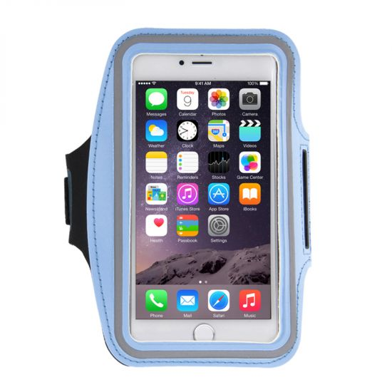 Mobigear Neopren Sportarmband für iPhone 8 Plus / 7 Plus / 6(s) Plus - Blau