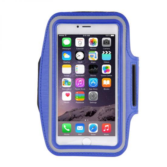 Mobigear Neopren Sportarmband für iPhone 8 Plus / 7 Plus / 6(s) Plus - Dunkelblau