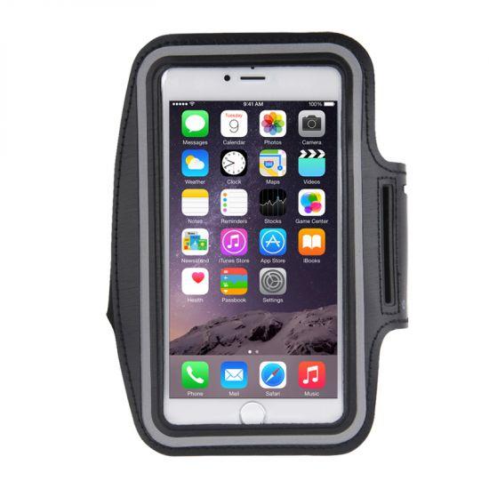 Mobigear Neopren Sportarmband für iPhone 8 Plus / 7 Plus / 6(s) Plus - Schwarz