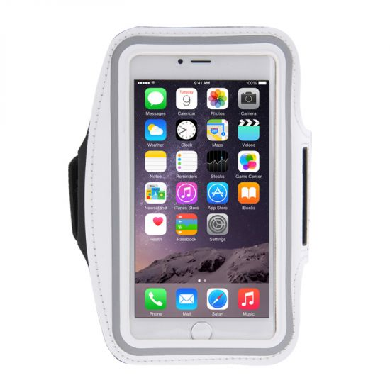 Mobigear Neopren Sportarmband für iPhone 8 Plus / 7 Plus / 6(s) Plus - Grau
