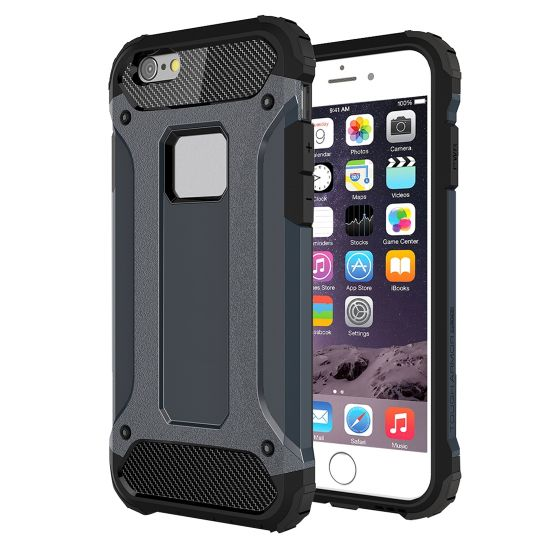 Mobigear Outdoor Hardcase Backcover für iPhone 6(s) Plus - Dunkelblau