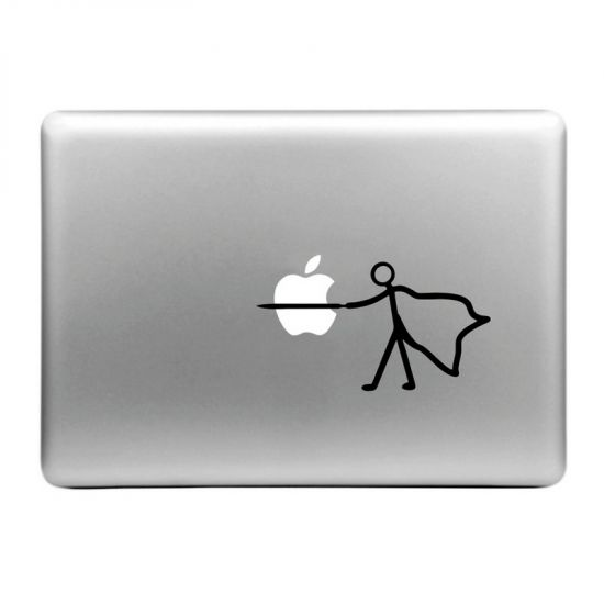 Mobigear Design Sticker für Apple MacBook Air / Pro (2008-2015) - Plug the Apple