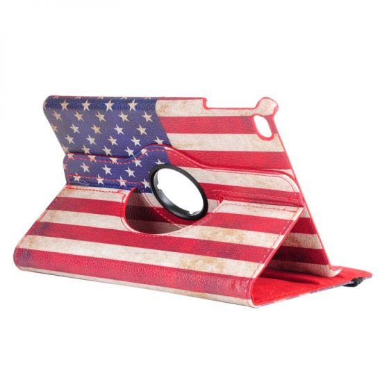 Mobigear 360 Rotating Klapphülle für iPad Mini 4 (2015) - Weinlese-USA-Flagge.