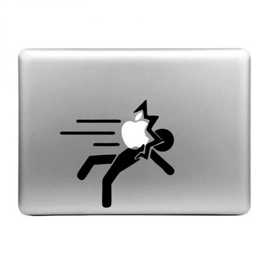Mobigear Design Sticker für Apple MacBook Air / Pro (2008-2015) - Apple Hits Person