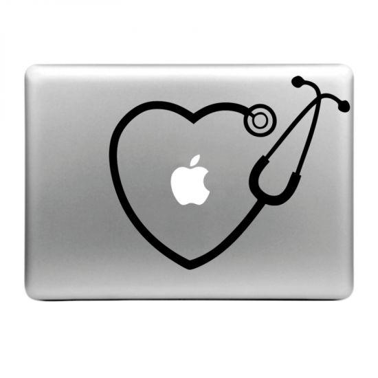 Mobigear Design Sticker für Apple MacBook Air / Pro (2008-2015) - Stethoskop