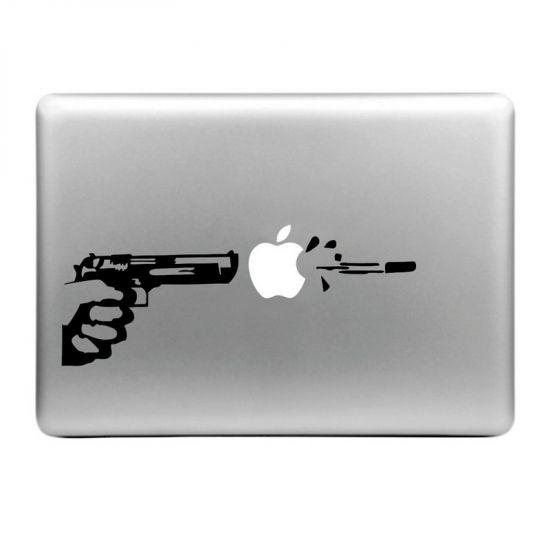 Mobigear Design Sticker für Apple MacBook Air / Pro (2008-2015) - Apple Shooter