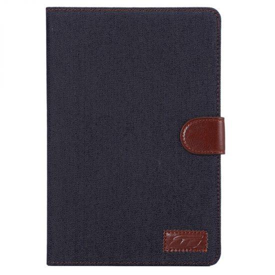 Mobigear Denim Baumwolle Klapphülle für iPad Mini 4 (2015) - Schwarz