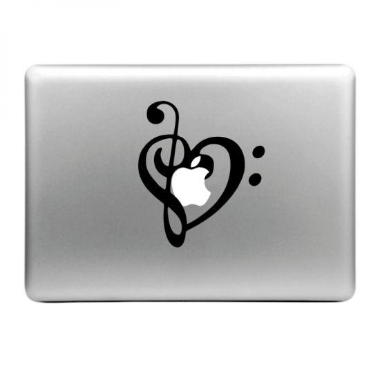 Mobigear Design Sticker für Apple MacBook Air / Pro (2008-2015) - Musik Note