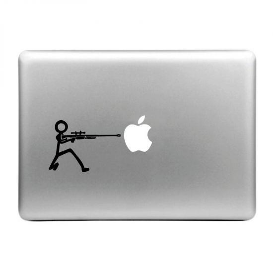 Mobigear Design Sticker für Apple MacBook Air / Pro (2008-2015) - Maschinengewehr