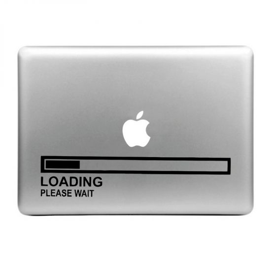 Mobigear Design Sticker für Apple MacBook Air / Pro (2008-2015) - Loading