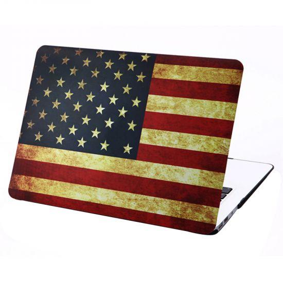 Mobigear Design Case für MacBook Air 13 Zoll - Vintage US-Flagge.