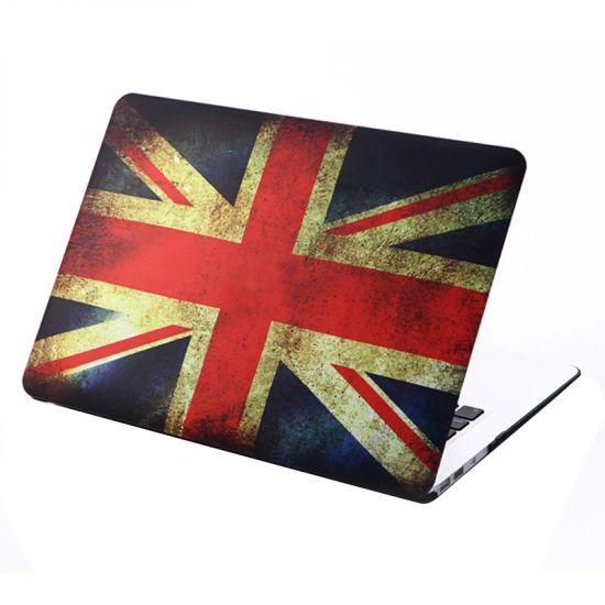 Mobigear Design Case für MacBook Air 13 Zoll A1369 / A1466 - Vintage UK-Flagge