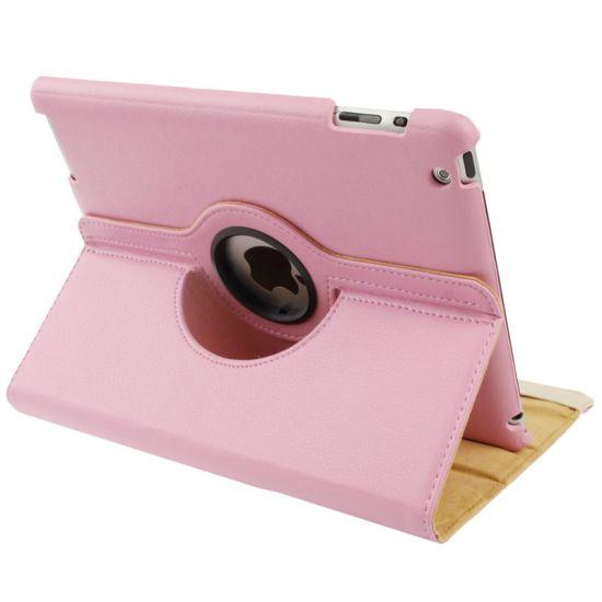 Mobigear 360 Rotating Klapphülle für iPad 4 (2012) / iPad 3 (2012) / iPad 2 (2011) - Pink