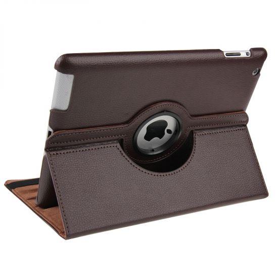 Mobigear 360 Rotating Klapphülle für iPad 4 (2012) / iPad 3 (2012) / iPad 2 (2011) - Braun