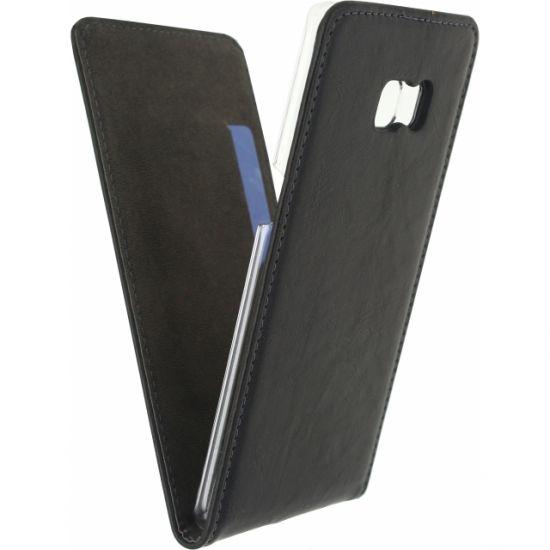 Mobilize Premium Magnet Flipcase für Samsung Galaxy S6 Edge Plus - Schwarz