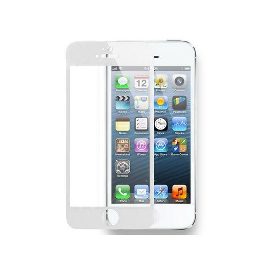 Mobigear Panzerglas Displayschutz für iPhone SE (2016) / 5S / 5C / 5 - Weiß