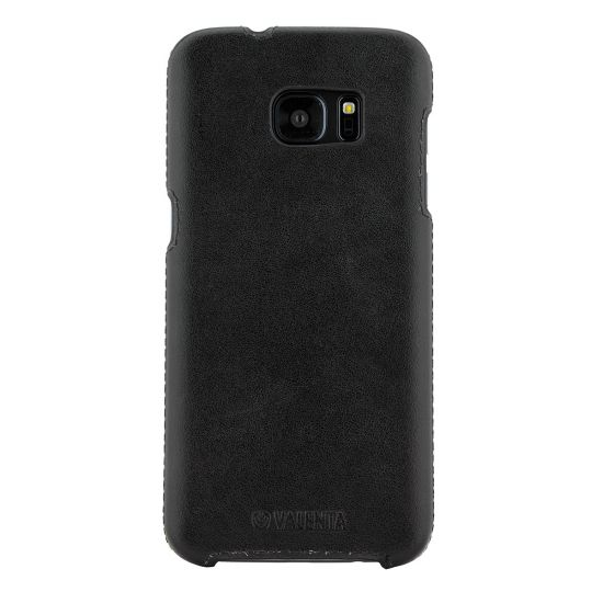 Valenta Classic Echtleder Backcover für Samsung Galaxy S7 Edge - Classic Black
