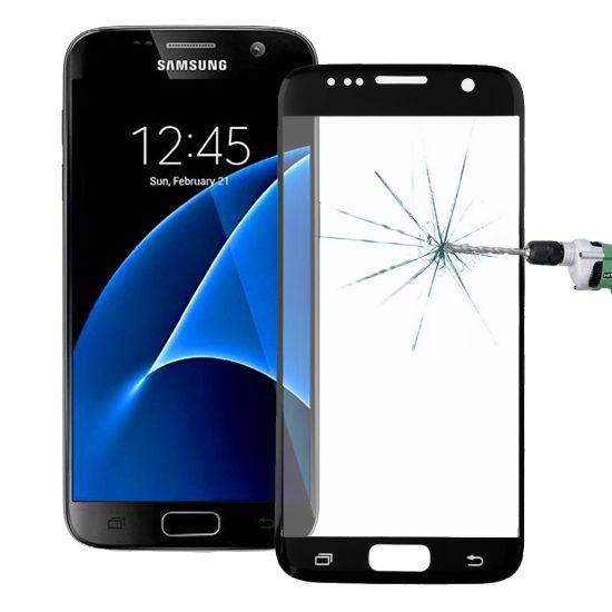 Mobigear Panzerglas Displayschutz für Samsung Galaxy S7 - Schwarz
