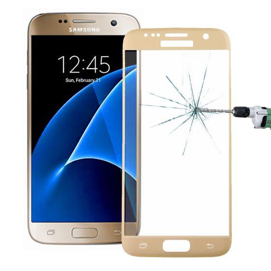 Mobigear Panzerglas Displayschutz für Samsung Galaxy S7 - Gold