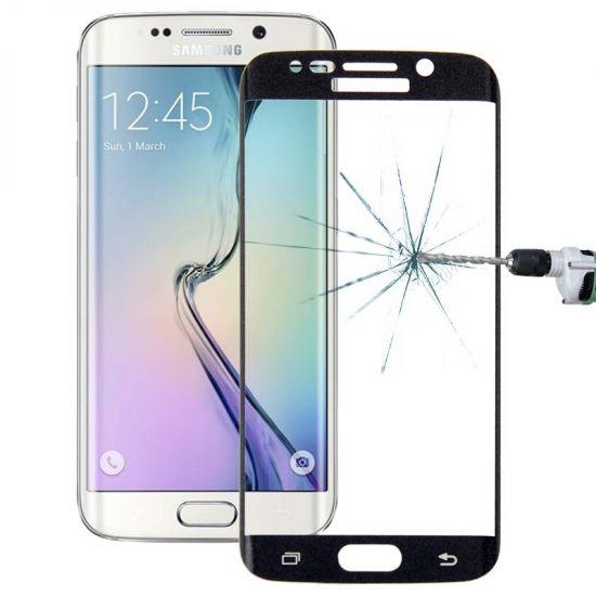 Mobigear Edge To Edge Panzerglas Displayschutz für Samsung Galaxy S6 Edge Plus - Schwarz