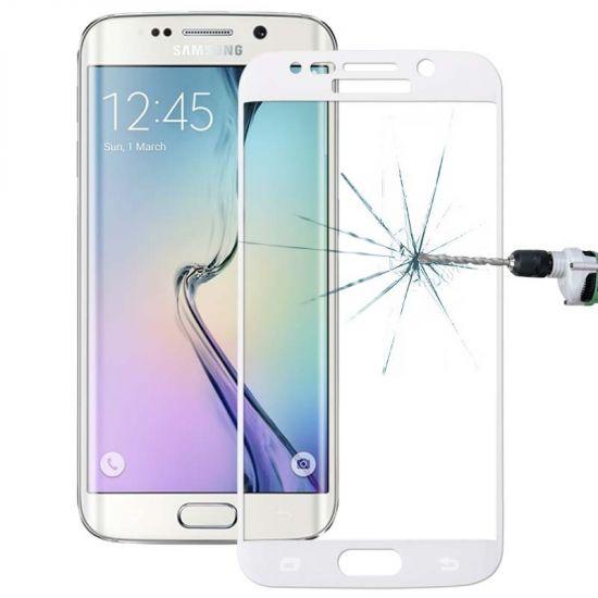 Mobigear Edge To Edge Panzerglas Displayschutz für Samsung Galaxy S6 Edge Plus - Weiß