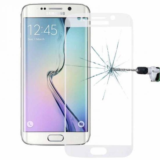 Mobigear Edge To Edge Panzerglas Displayschutz für Samsung Galaxy S6 Edge