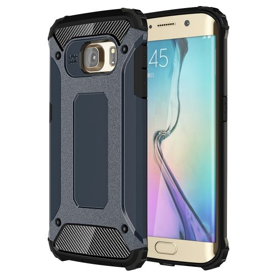 Mobigear Outdoor Hardcase Backcover für Samsung Galaxy S6 Edge - Dunkelblau
