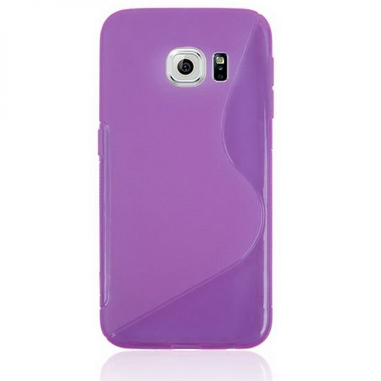 Mobigear S-Line TPU Backcover für Samsung Galaxy S6 Edge - Lila