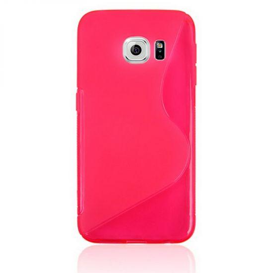 Mobigear S-Line TPU Backcover für Samsung Galaxy S6 Edge - Magenta