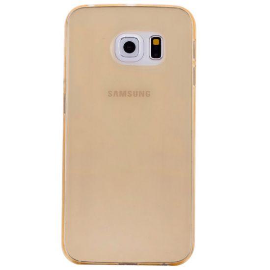 Mobigear Color TPU Backcover für Samsung Galaxy S6 Edge - Gelb