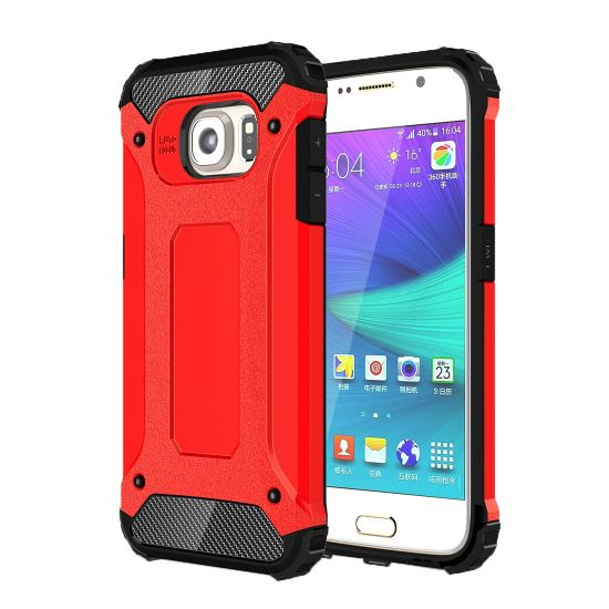 Mobigear Outdoor Hardcase Backcover für Samsung Galaxy S6 - Rot