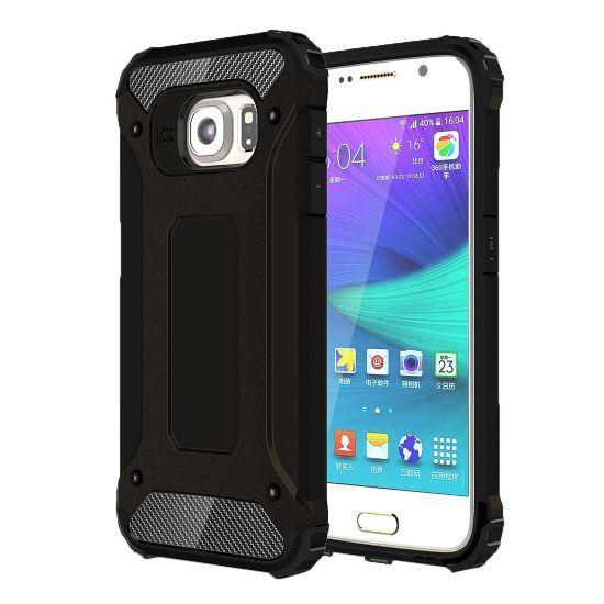 Mobigear Outdoor Hardcase Backcover für Samsung Galaxy S6 - Schwarz