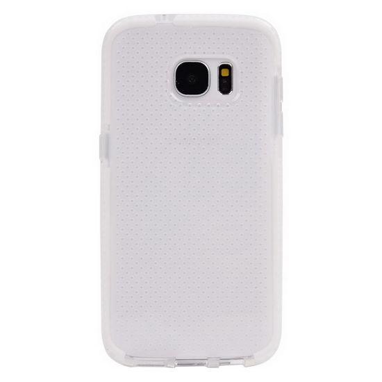 Mobigear Full Bumper TPU Backcover für Samsung Galaxy S7 - Transparent / Weiß