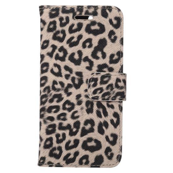 Mobigear Leopard Klapphülle für iPhone SE (2020) / 8 / 7 - Gelb