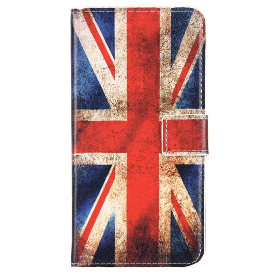 Mobigear Design Klapphülle für iPhone 8 Plus / 7 Plus - Vintage UK-Flagge