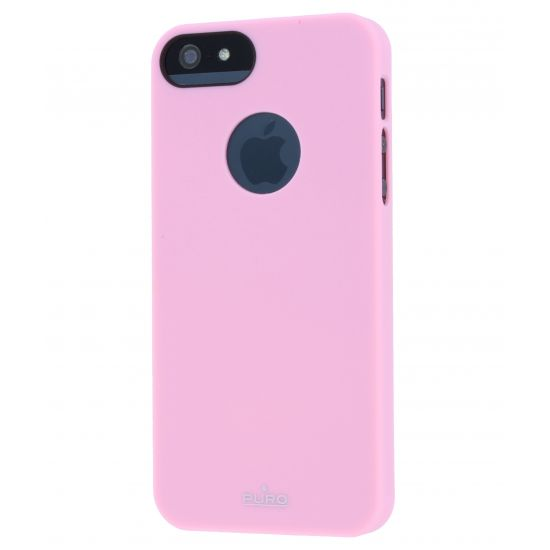 Puro Soft Touch Hardcase Backcover für iPhone SE (2016) / 5S / 5 - Pink
