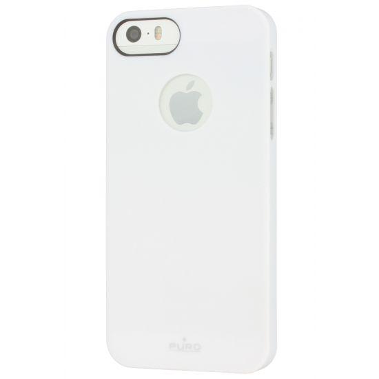 Puro Soft Touch Hardcase Backcover für iPhone SE (2016) / 5S / 5 - Weiß