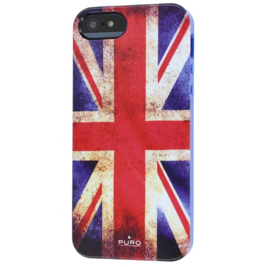 Puro Flag TPU Backcover für iPhone SE (2016) / 5S / 5 - Vintage UK-Flagge