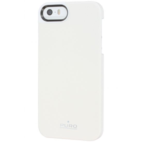 Puro Eco-Leather Backcover für iPhone SE (2016) / 5S / 5 - Weiß