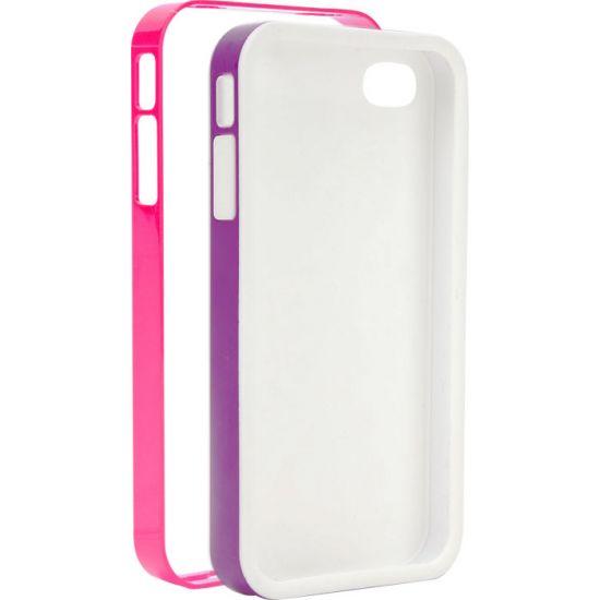 Xqisit iPlate Hardcase Backcover für iPhone SE (2016) / 5S / 5 - Pink / Lila