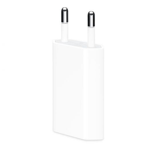 Apple iPhone / iPod Single USB Ladegerät 5W 1A - Weiß