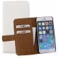 Mobilize Slim Wallet Book Case Weiß für Apple iPhone 6 / 6s