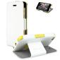 Muvit iFlip Folio Klapphülle für iPhone 5C - Weiß