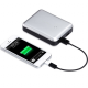 Just-Mobile Gum Max Single USB Powerbank 11.200 mAh - Silber