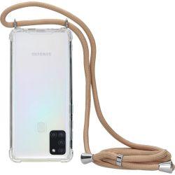 Mobiparts Lanyard TPU Handykette für Samsung Galaxy A21s - Nude