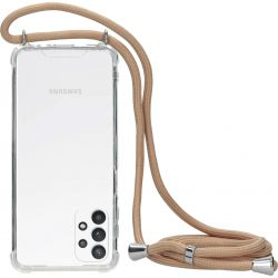 Mobiparts Lanyard TPU Handykette für Samsung Galaxy A32 5G - Nude